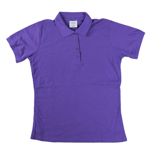 RGRiley | Ladies Purple 4 Button Henley Polo Shits | Irregular
