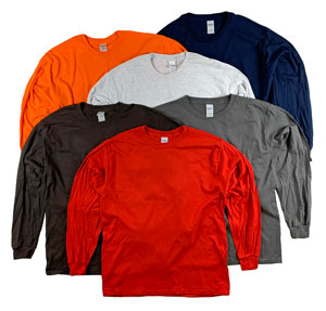 RGRiley | Gildan Mens Long Sleeve T-Shirts | Hand Graded Irregular