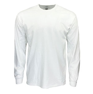 RGRiley | Gildan Mens White Long Sleeve T-Shirts | Mill Graded Irregulars