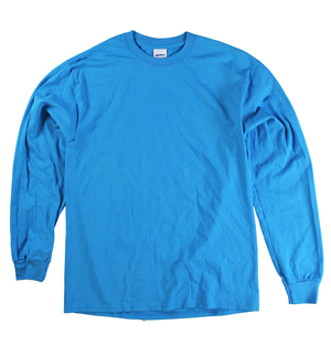 RGRiley | Adult Blue Long Sleeve T-Shirts | Closeout