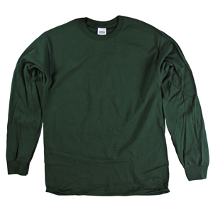 RGRiley | Adult Green Long Sleeve T-Shirts | Closeout