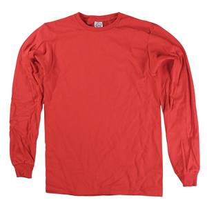 RGRiley | Adult Red Long Sleeve T-Shirts | Closeout