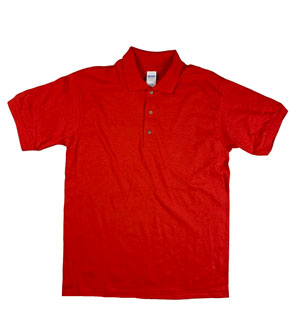RGRiley | Gildan Mens Red Polo Shirts | Irregular