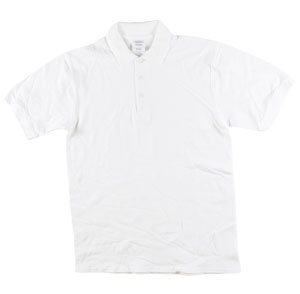 RGRiley | Gildan Mens White Polo Shirts | Irregular