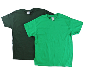 RGRiley | Adult Green Short Sleeve T-Shirts | Closeout