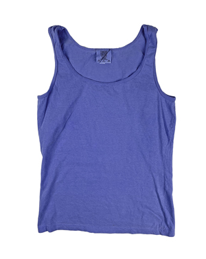 RGRiley | Comfort Color Womens Flo Blue Tank Tops | Irregular