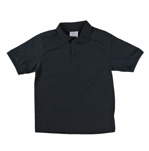 RGRiley | Youth Boys Black Polo Shirts | Irregular