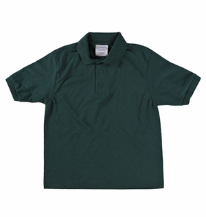 RGRiley | Youth Boys Forest Green Polo Shirts | Irregular