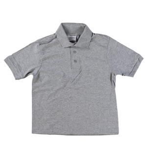 aec9576ea2607e RGRiley   Youth Boys Heather Grey Polo Shirts   Irregular