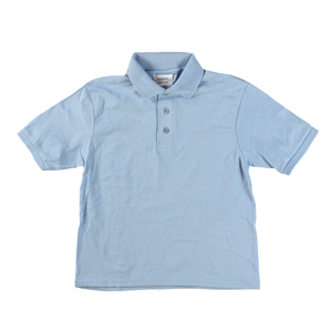 RGRiley | Youth Boys Light Blue Polo Shirts | Irregular