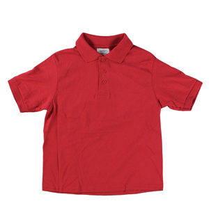 RGRiley | Youth Boys Red Polo Shirts | Irregular