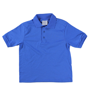 RGRiley | Youth Boys Royal Polo Shirts | Irregular
