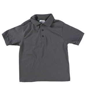 RGRiley | Youth Boys Smoke Grey Polo Shirts | Irregular