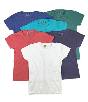 RGRiley | Comfort Color Womens Crew Neck T-Shirts | Mill Graded