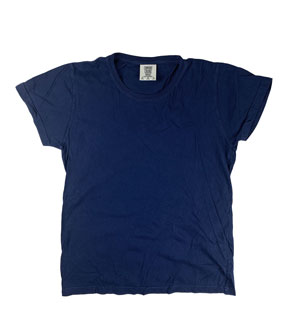 RGRiley | Comfort Color Womens Navy Crew Neck T-Shirts | Mill Graded