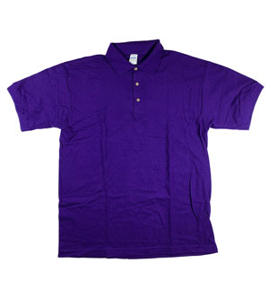 RGRiley | Gildan Mens Purple Pique Polo Shirts | Irregular