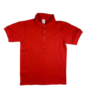 RGRiley | Gildan Mens Red Pique Polo Shirts | Irregular