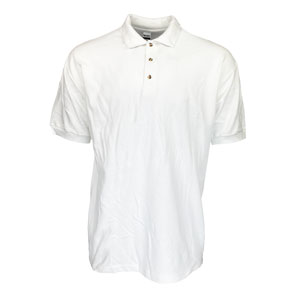 RGRiley | Gildan Mens White Pique Polo Shirts | Irregular