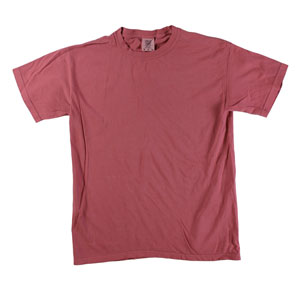 RGRiley | Comfort Color Mens Crimson Crew Neck T-Shirts | Mill Graded