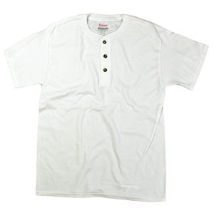 RGRiley.com | Adult White 3 Button Henley T-Shirt | Closeout