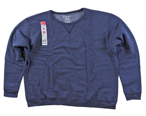 RGRiley | Womens First Quality Hanes Navy Heather Crew Sweatshirt | Closeout