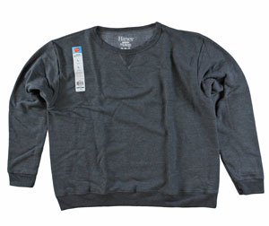 RGRiley | Womens First Quality Hanes Slate Heather Crew Sweatshirt | Closeout