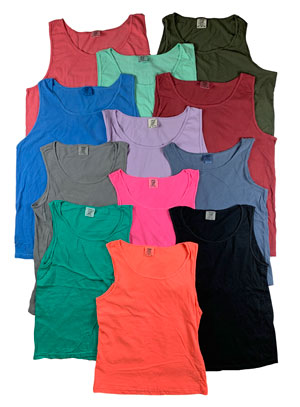 RGRiley | Comfort Color Mens Crew Neck Tank Tops | Mill Graded