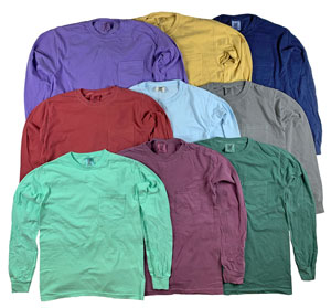 RGRiley | Comfort Colors Mens Pocket Long Sleeve T-Shirts | Mill Graded