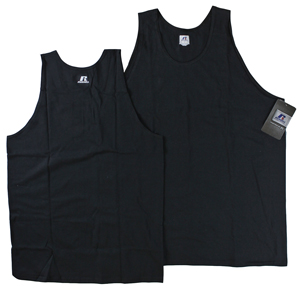 RGRiley | Mens Russell Black Tank Tops | Closeout