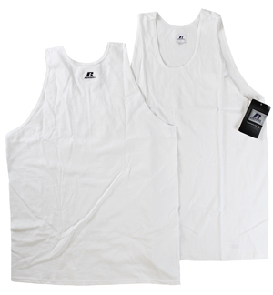 RGRiley | Mens Russell White Tank Tops | Closeout