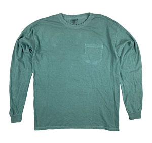 RGRiley | Comfort Color Mens Light Green  Long Sleeve T-Shirts | Mill Graded