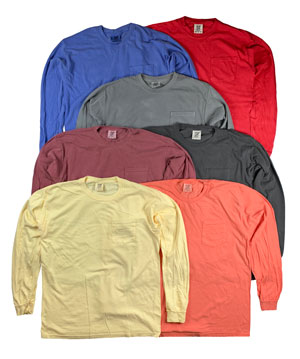 RGRiley | Comfort Color Mens Long Sleeve T-Shirts | Mill Graded