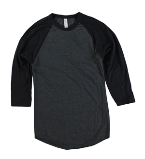 RGRiley | American Apparel Mens Black/Black 3/4 Sleeve Baseball T's | Irregular