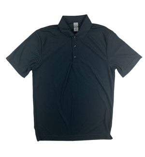 RGRiley | Mens Black Pique Polo Shirts | Mill Graded