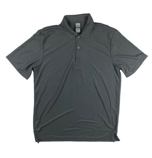 RGRiley | Mens Charcoal Pique Polo Shirts | Mill Graded