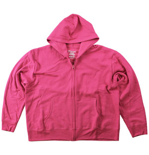 RGRiley | Womens Bulk Sizzling Pink Zipper Hooded Sweatshirts | Hanes Closeout