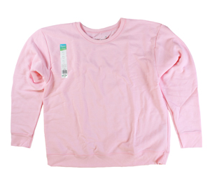 RGRiley | Hanes Womens Paleo Pink Crew Neck Sweatshirts | Closeout