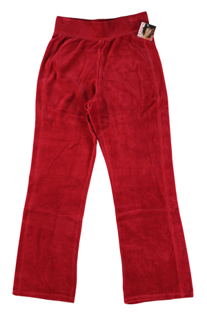 RGRiley | Hanes Missy Jubilee Red Velour Pants | Closeout