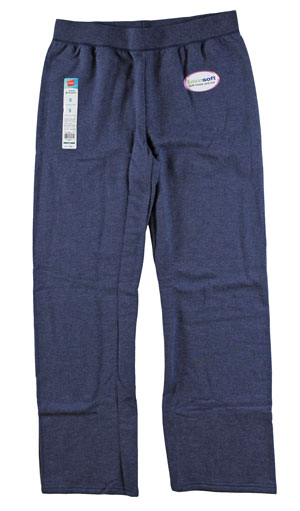 RGRiley | Womens Bulk Navy Heather Sweatpant | Hanes Closeout