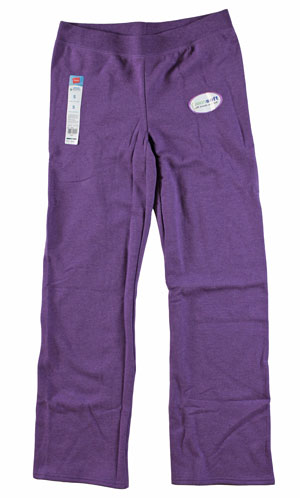 RGRiley | Womens Bulk Violet Heather Sweapant | Hanes Closeout