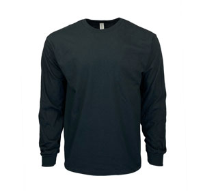 RGRiley | Gildan Mens Black Long Sleeve T-Shirts | Irregular