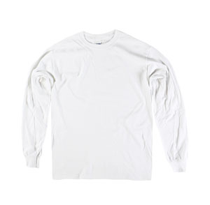 RGRiley | Gildan Youth White Long Sleeve T-Shirts | Irregular