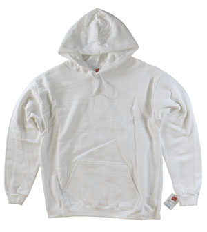RGRiley.com | Mens Bulk Fleece Pull Over Hoodie White | Closeout