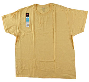 RGRiley | Bulk Big Mens Yellow Heather T-Shirts | Hanes Closeout