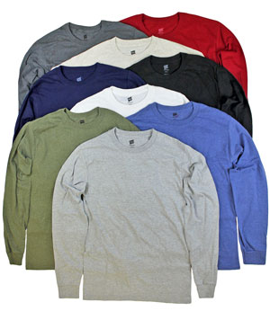 Mens Brands Premium Tagless Label Long Sleeve Crew T-Shirts - Price $2.00