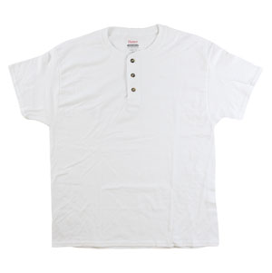 RGRiley | Mens White Henley T-Shirts | Irregular