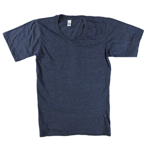 RGRiley | Mens Royal Apperal Heather Navy V-Neck T-Shirts | Closeout