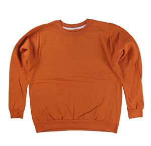 RGRiley | Gildan Womens Orange Crew Neck Sweatshirts | Irregular