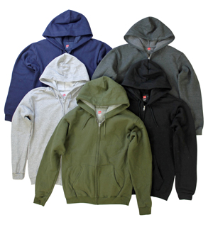 Hanes Adult Zip Hooded Sweatshirts Hand Graded For Quality Control  - Price $5.50