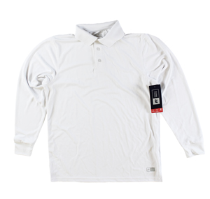 RGRiley | Russell Athletic Adult White Long Sleeve Polos | Closeout